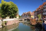 Colmar_168_06202018 - Looking back at the attractive canals of Petite Venise in Colmar