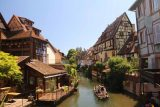 Colmar_197_06202018 - Another section of the canal flanked by beautiful half-timbered homes in the Petite Venise section of Colmar