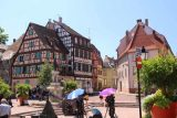 Colmar_204_06202018 - Some kind of Chinese film shoot going on in this plaza near the Rosselmann Fountain in Colmar