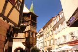 Colmar_244_06202018 - Looking towards a section of one of the oldest buildings in the old town of Colmar