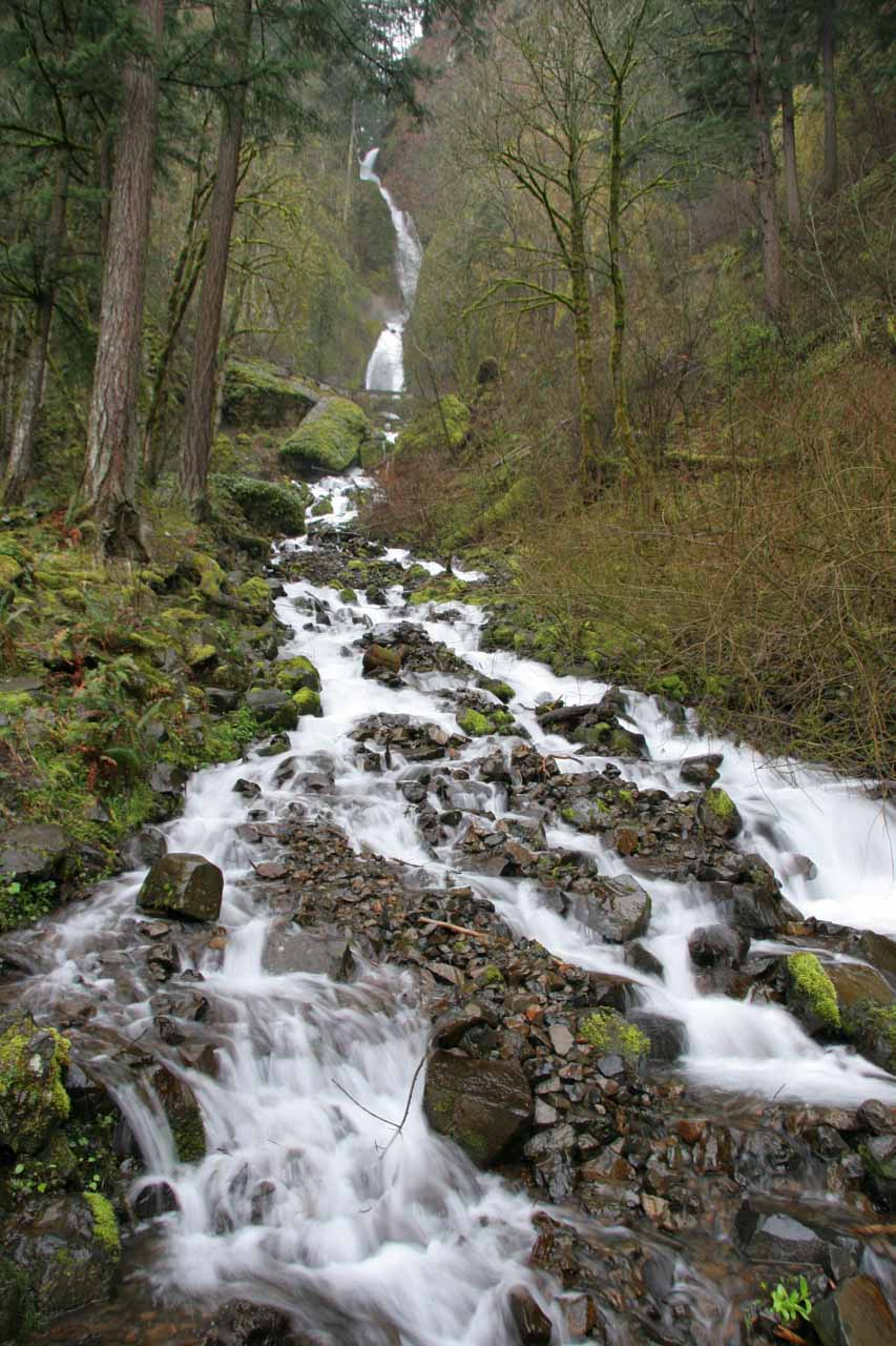A slightly different angle of Wahkeena Falls to try to minimize foliage in my line of sight