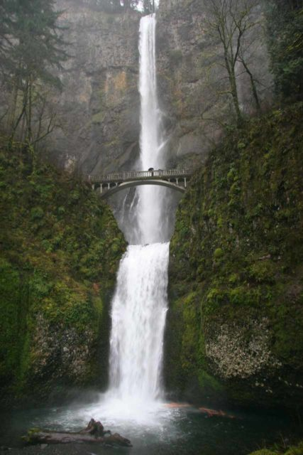 Columbia_River_Gorge_074_03282009 - Multnomah Falls when we first saw it in late March 2009 when it was swollen by a late Winter storm