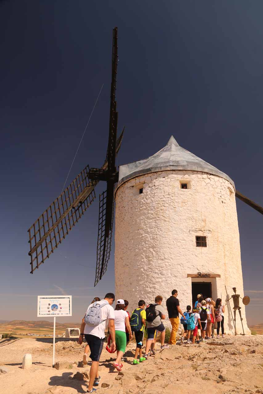 A large group of kids entering the same windmill that pretty much meant the end of the peace
