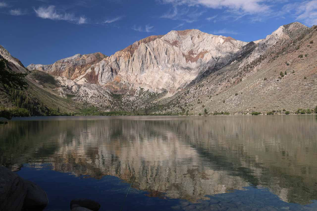 Just a few minutes drive south on the 395 from Mammoth was the access road to Convict Lake, which was a very attractive drive-to lake