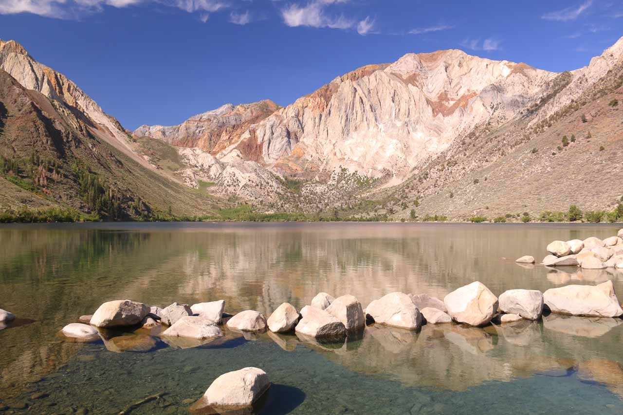 The McGee Creek Trail was a short distance south on the 395 of the turnoff for Convict Lake, which happened to be both scenic and easily accessible as it was essentially a drive-to lake