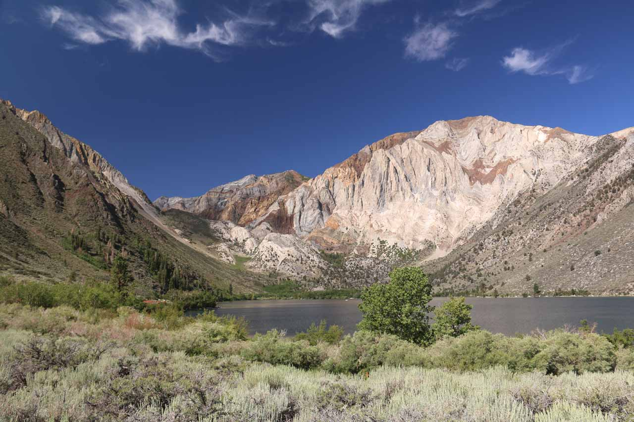 Just south of the Mammoth area was the easily accessible Convict Lake, which proved to be very beautiful without the need for a long hike or a guelling backpack trip