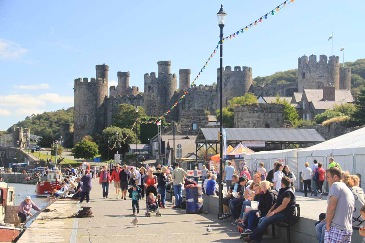 In addition to Conwy Castle, Conwy also had a pretty happening waterfront with the smallest house in Britain as well as views of the castle as shown here