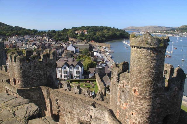 Conwy_163_08312014 - We began our long drive to Devil's Bridge from Conwy, which was where we based ourselves for our time spent in North Wales. Conwy Castle (shown here) was the town's most prominent feature