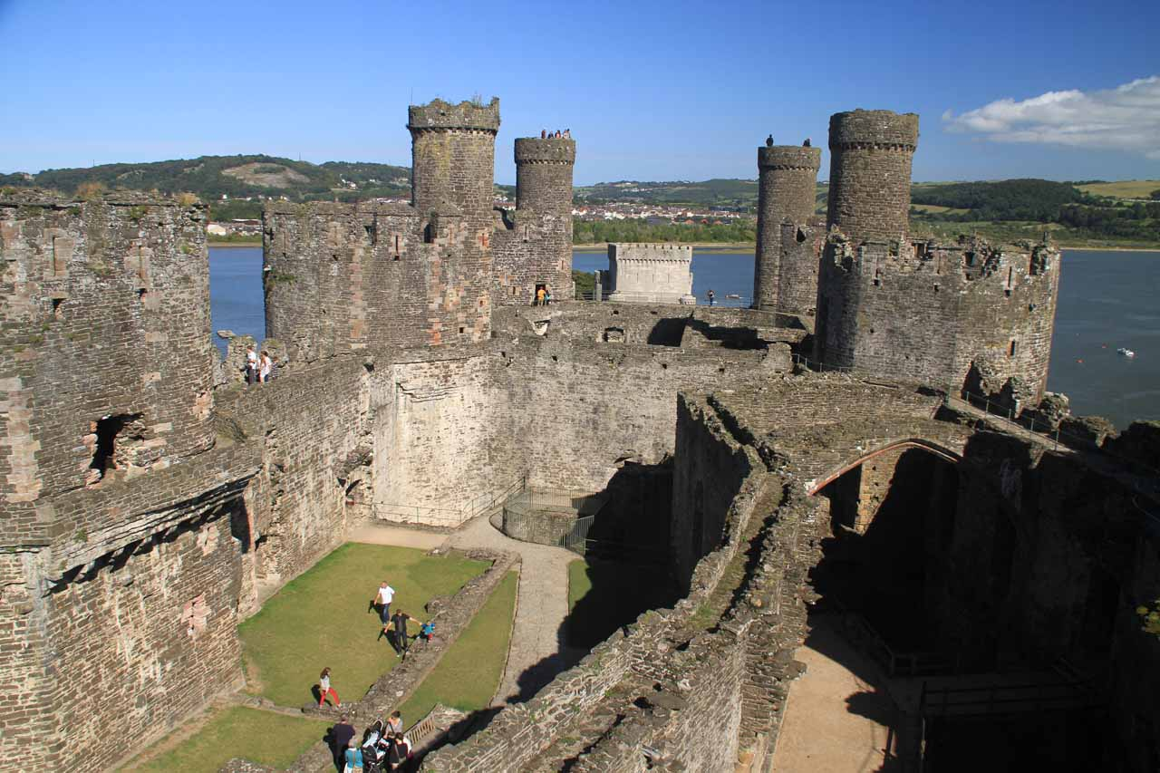 While we were touring North Wales (and Aber Falls), we based ourselves in the charming town of Conwy, which featured the UNESCO Conwy Castle as well as the city walls