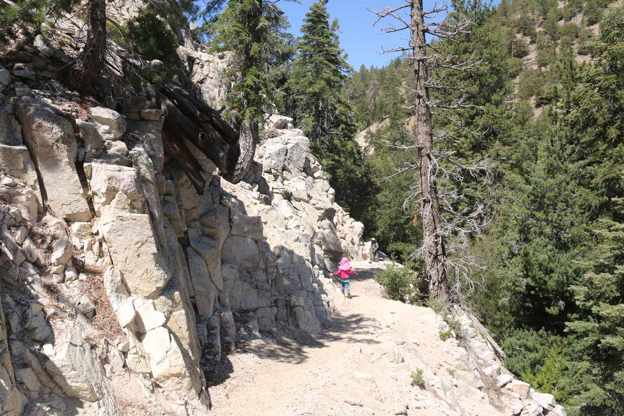 The Burkhart Trail continued its downward trajectory as it would eventually drop down to the level of Buckhorn Creek