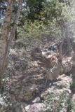 Cooper_Canyon_Falls_138_05012016 - Someone making the steep scramble down to the base of Cooper Canyon Falls
