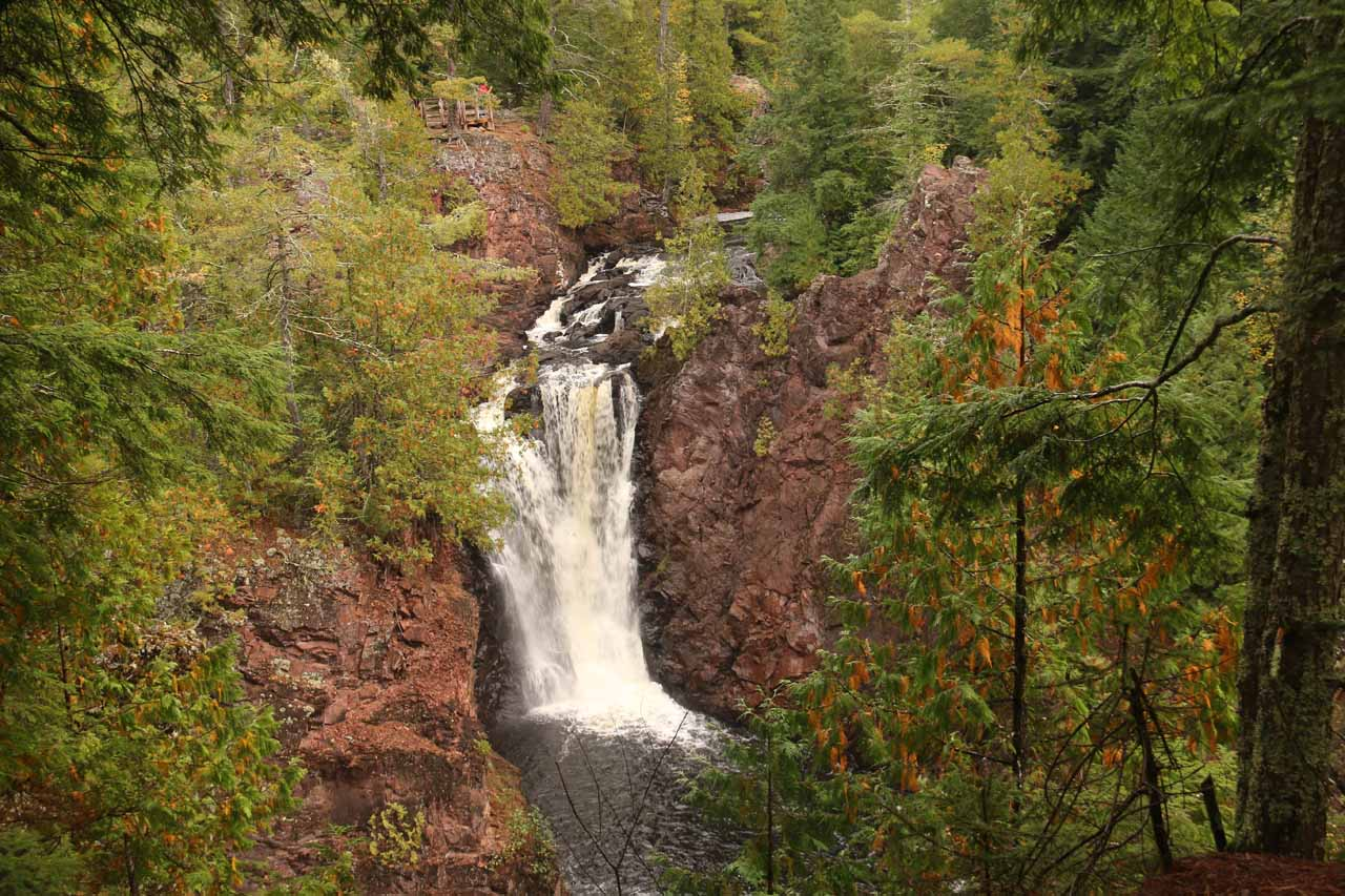 Finally, a satisfyingly frontal view of Brownstone Falls