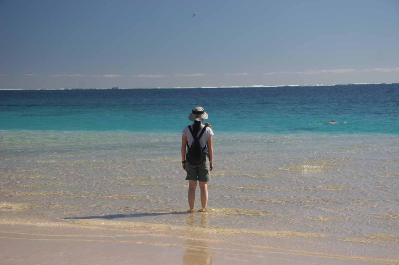 Julie at Coral Bay