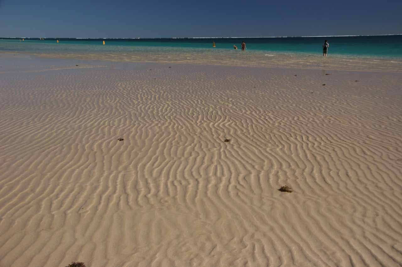 Ripples in the sand at the Ningaloo Reef at Coral Bay