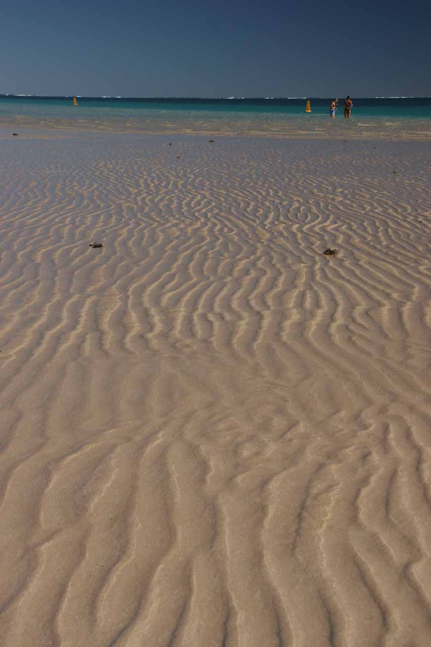 Ripples in the sand of Coral Bay