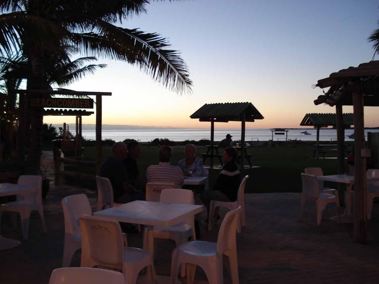 Dinner at Coral Bay