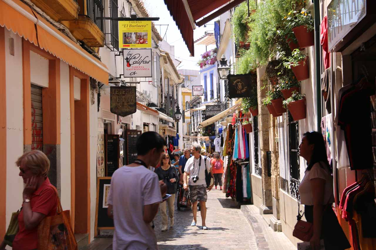 This part of the Jewish Quarter of Cordoba was busy