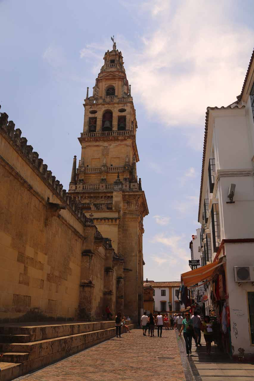 Looking towards the bell tower for Mezquita