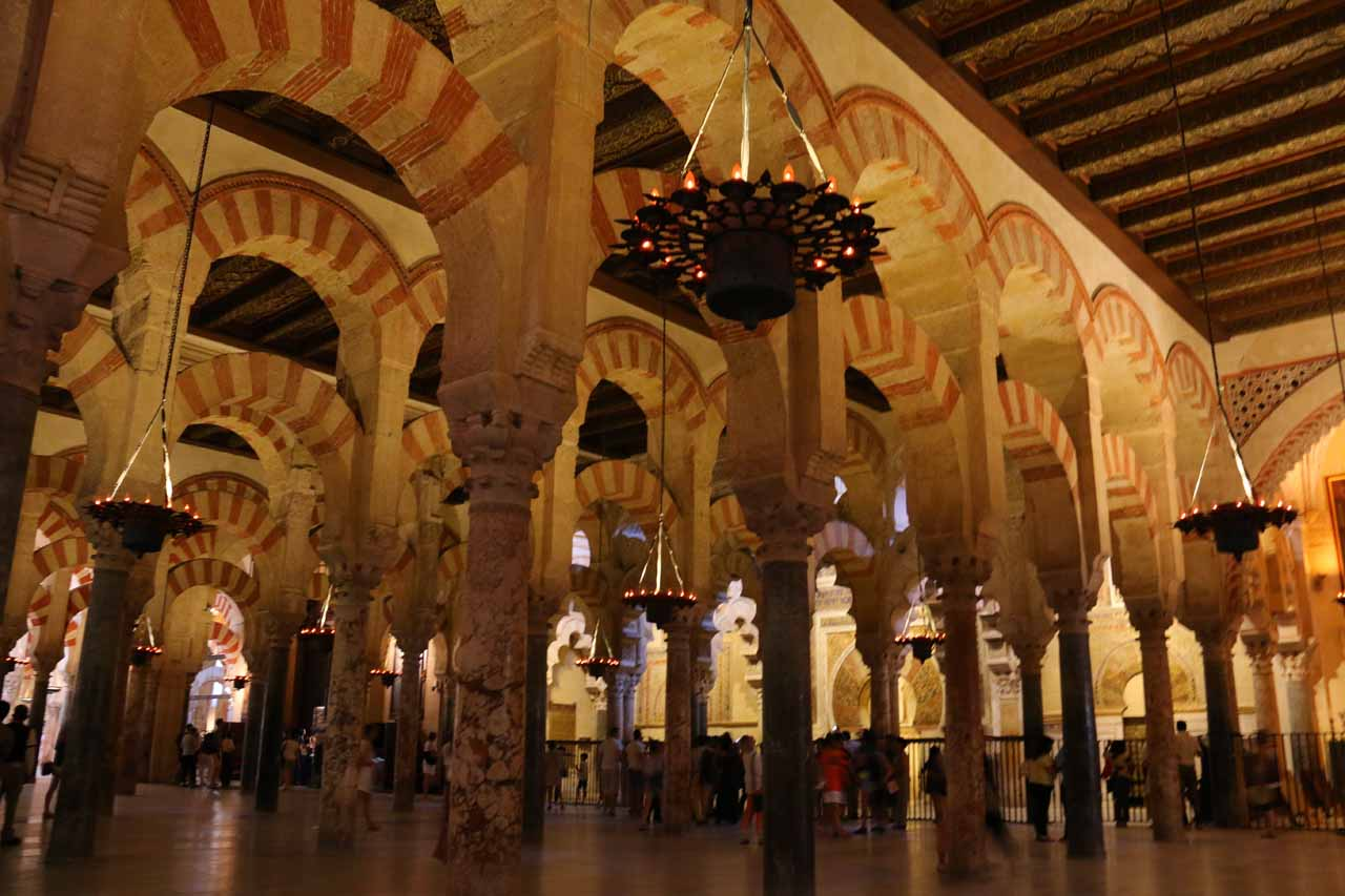 It was almost overwhelming the quantity of arches and columns throughout the Mezquita