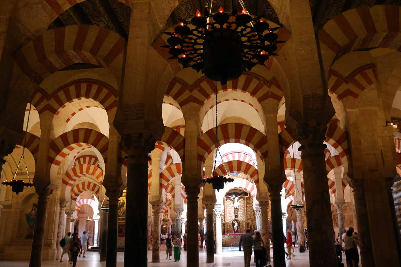 Still more arches and columns of la Mezquita as we explored other corners of the complex