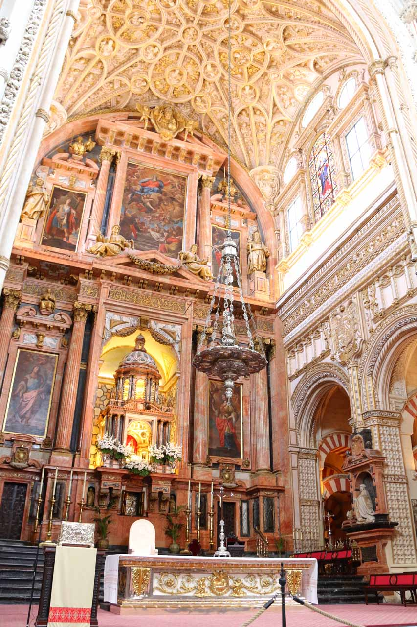 Another Catholic part of la Mezquita further adding to the strange mix of Muslim and Catholicism in one building