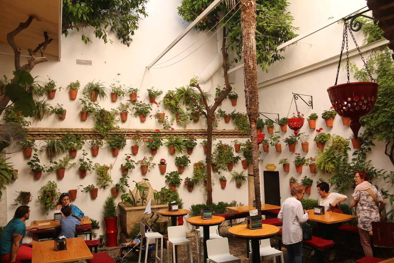 Cordoba was known for having fancy patios, and we managed to sneak a peek at this one