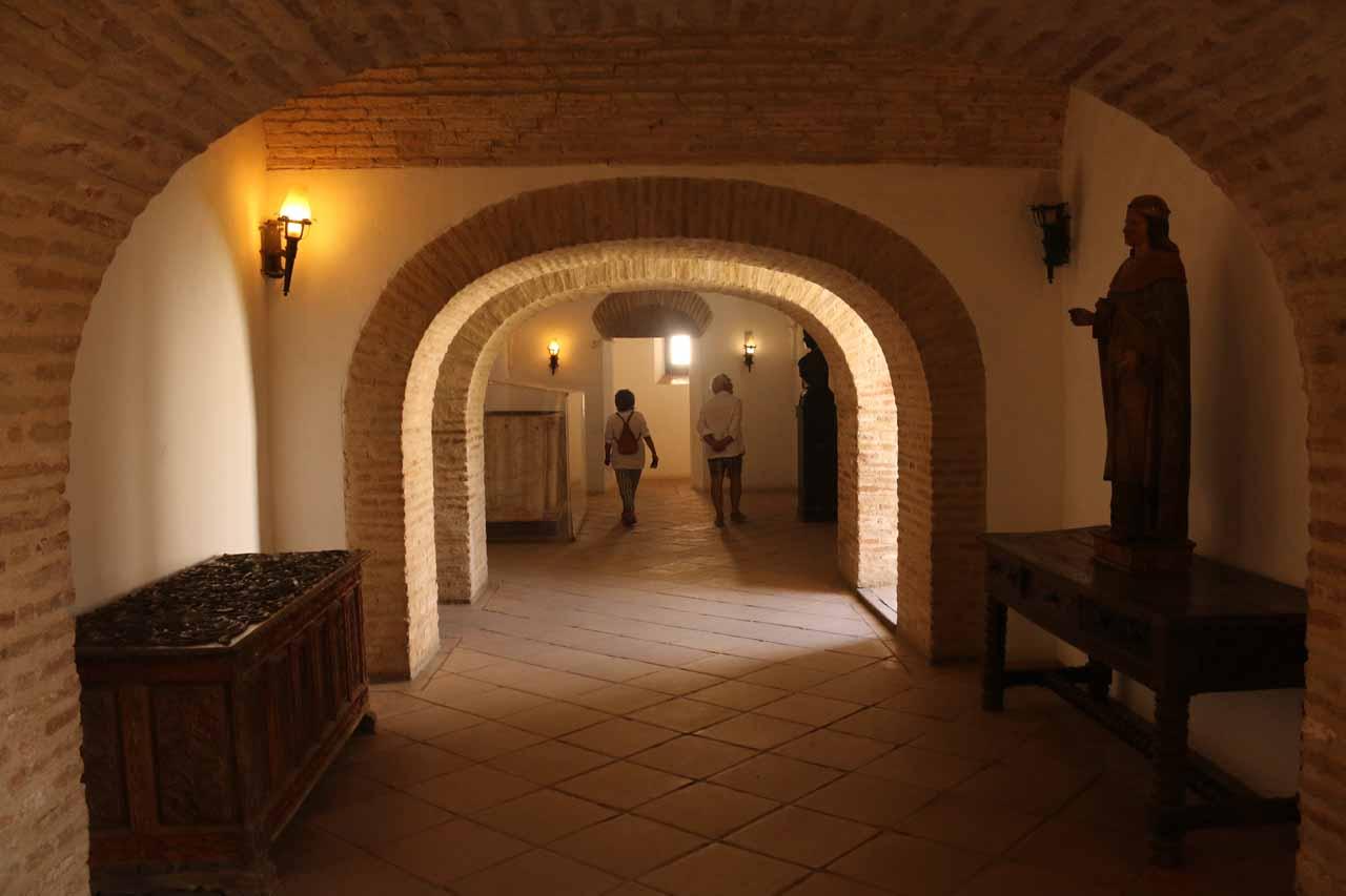 Inside the Alcazar de los Reyes Cristianos