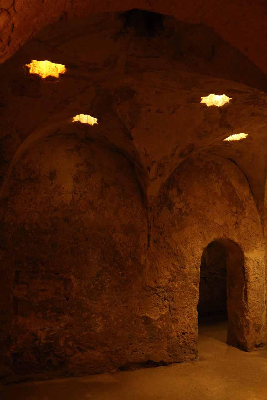 Inside a hammam within the Alcazar de los Reyes Cristianos