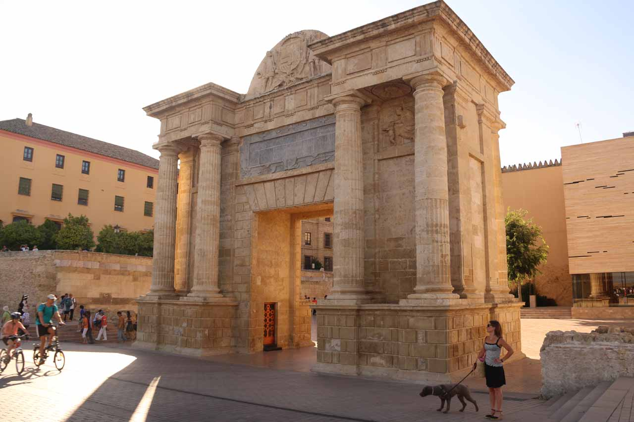 The interesting Puerta del Puente, which was directly across from the Puente Romano
