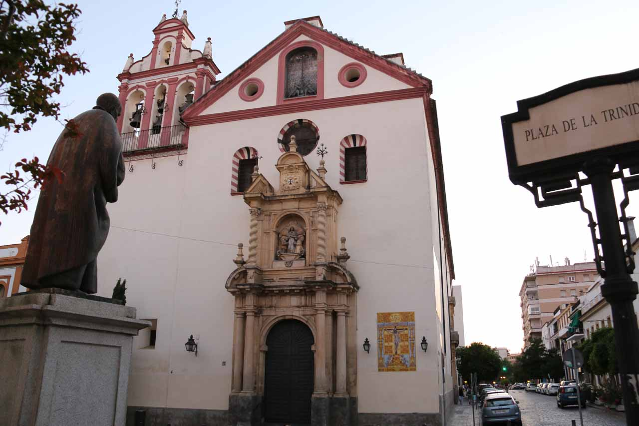 Walking past this attractive church at the Plaza de la Trinidad as we made our way back to our hotel