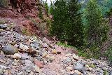 Cornet_Falls_058_07232020 - Going back through the rockslide-prone section of the short Cornet Falls hike