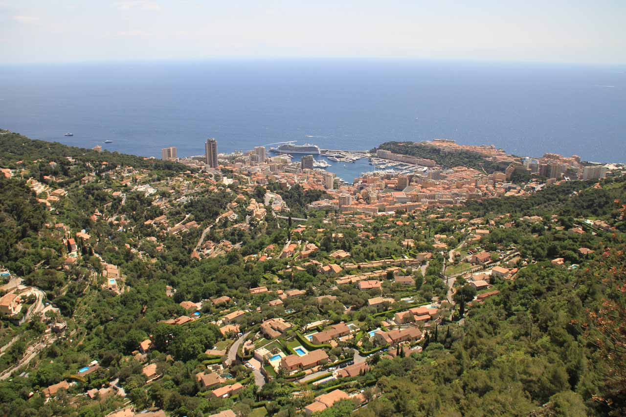 In addition to Nice, we also drove the winding roads through the Corniches towards this view of Monaco