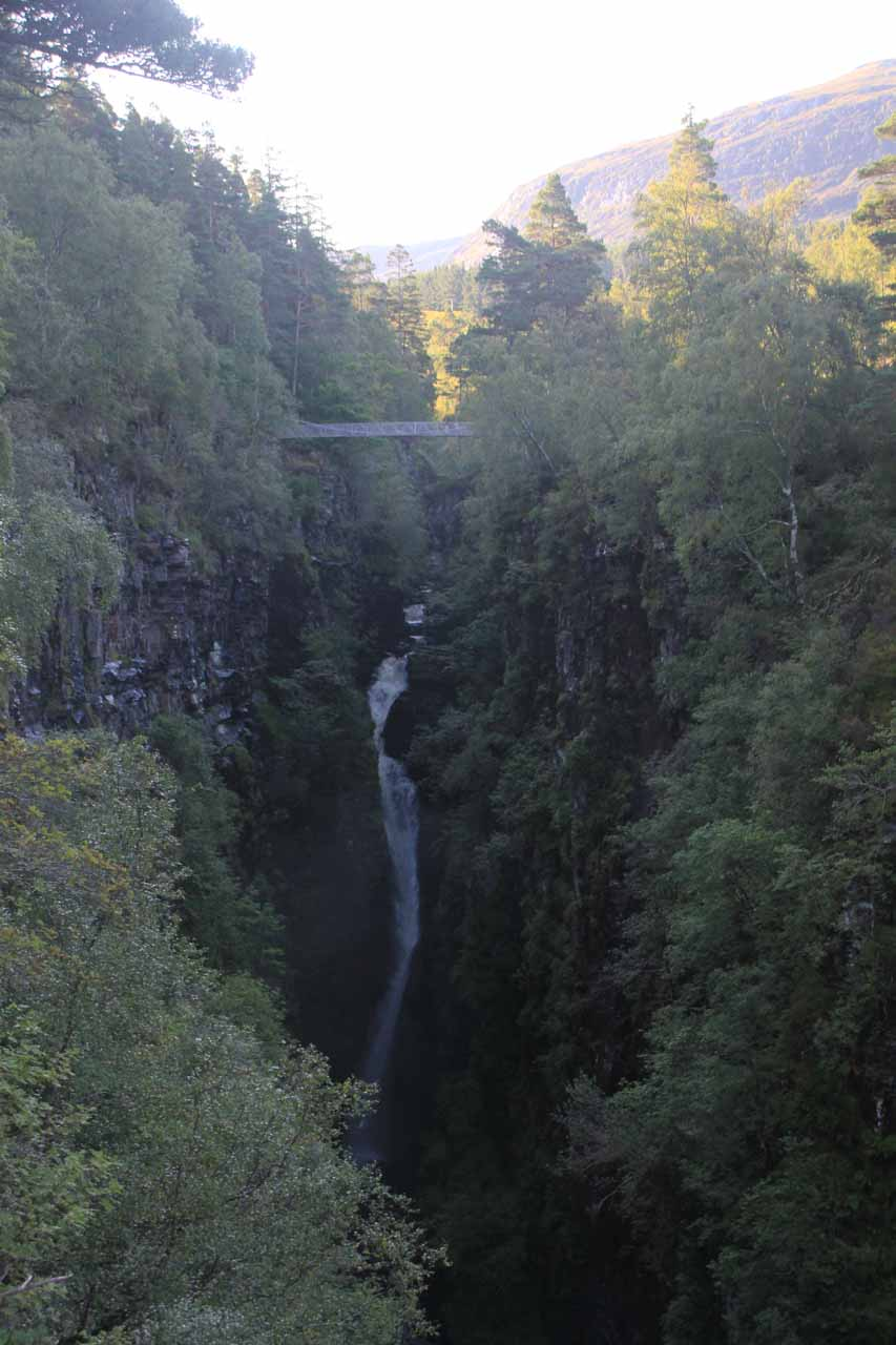 First look back at the Falls of Measach from the overlook further downstream