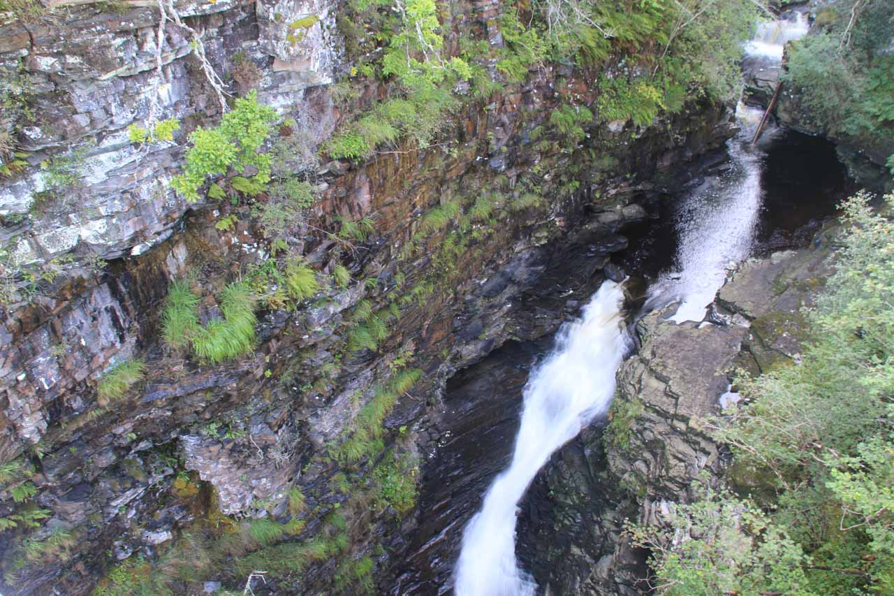 Last look at the Falls of Measach from the suspension bridge as I made my way back to the Kissing Gate