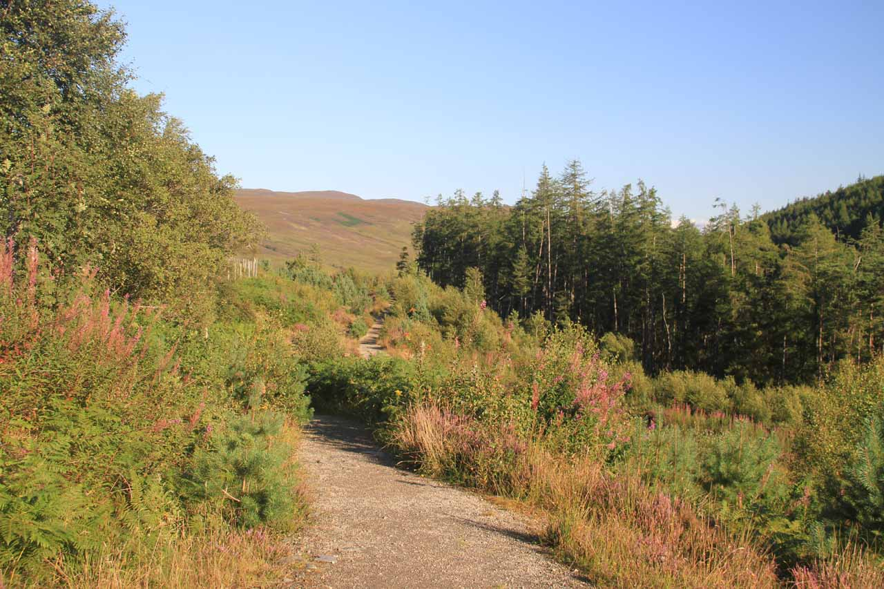 Now I was on the walking path leading me to the view of Loch Broom