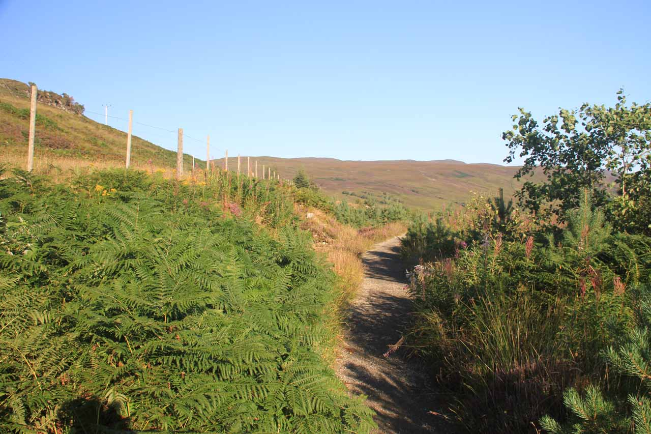 This path followed along the A832 for a short stretch