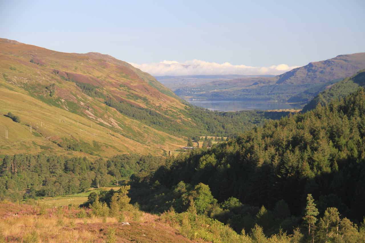 This was the view of Loch Broom from the trail leading out the left entrance of the Kissing Gate
