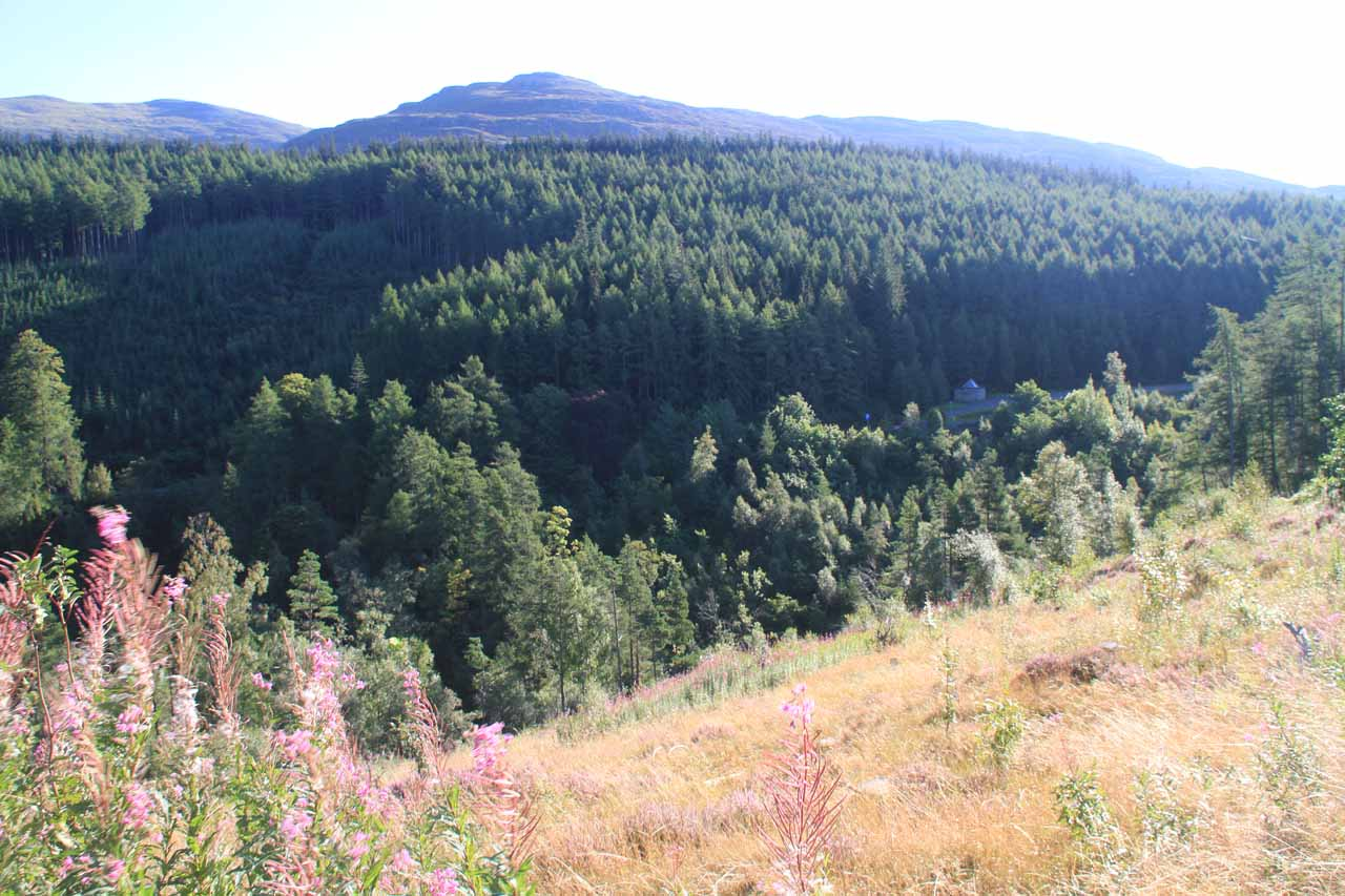 As I was returning to the Kissing Gate, I noticed down below the old car park for Corrieshalloch Gorge