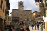 Cortona_007_20130523 - Looking back at the somewhat busy piazza in Cortona