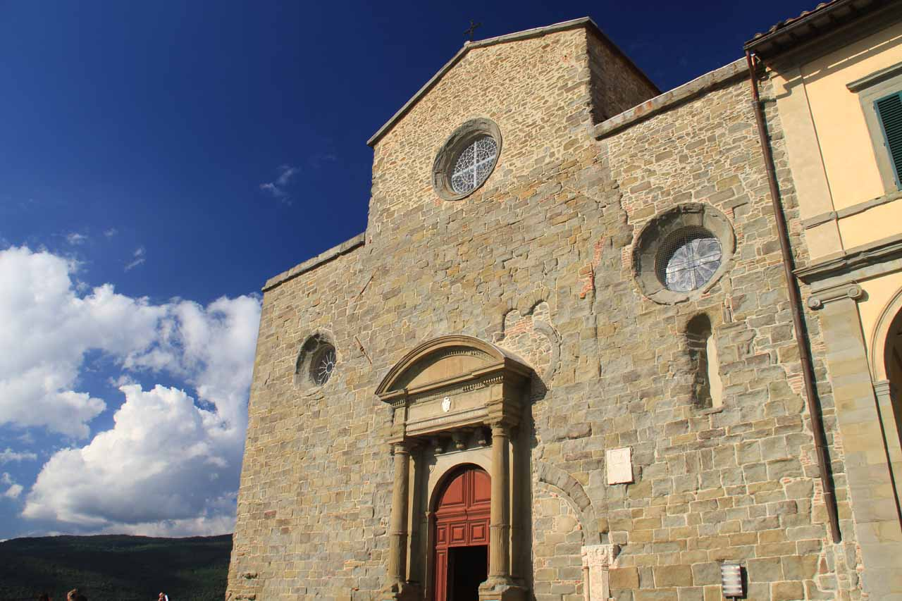 The church of the Museum of the Diocese in Cortona