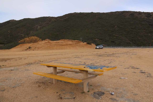 Cottonwood_Creek_Falls_007_01232016 - Context of the picnic table and the giant pullout where we parked the car for Cottonwood Creek Falls