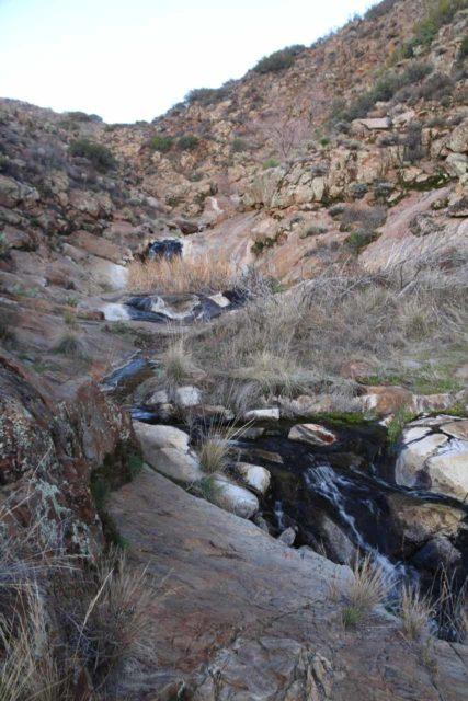 Cottonwood_Creek_Falls_072_01232016 - Looking upstream along Cottonwood Creek in search of the tallest of the Cottonwood Creek Falls