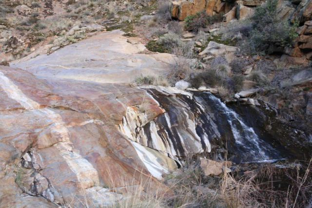 Cottonwood_Creek_Falls_079_01232016 - Looking towards the uppermost drop of the Cottonwood Creek Falls though I did follow the 'streak' on the left of this picture to see if there were more interesting parts of the waterfall up there