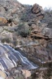 Cottonwood_Creek_Falls_081_01232016 - Looking across the most impressive drop of Cottonwood Creek Falls towards some interesting desert boulders and cliffs on the other side