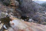 Cottonwood_Creek_Falls_089_01232016 - Looking over the drop of one of the Cottonwood Creek Falls' tiers
