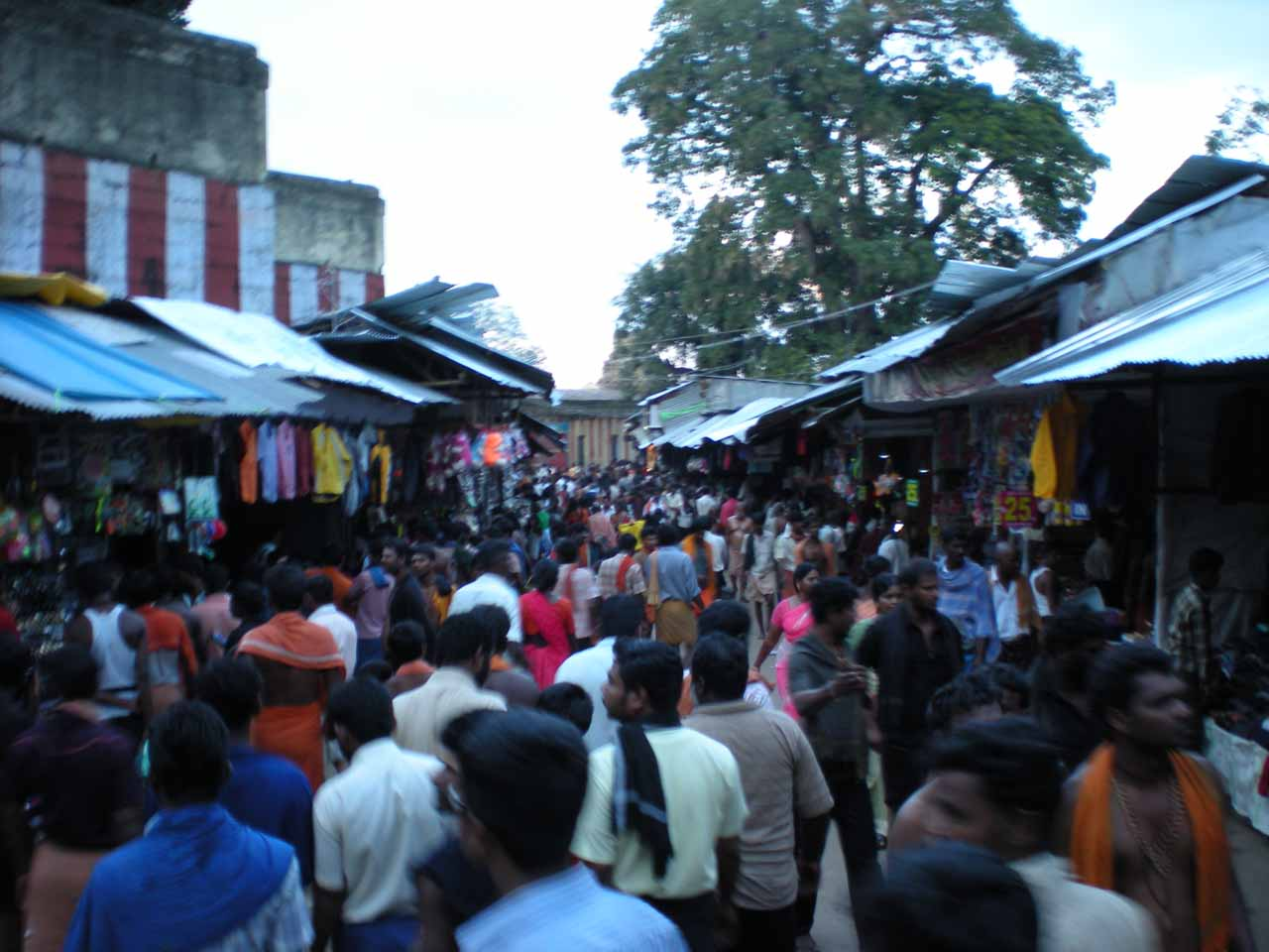 When the sun went down, the marketplace at Courtallam Main Falls came alive with a sea of humanity converging on this one spot for a variety of reasons - religious, social, or just sightseeing
