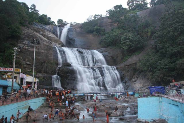 Courtallam_Falls_010_11192009 - The Courtallam Main Falls which is also known as Courtallam Falls or Kutralam Falls