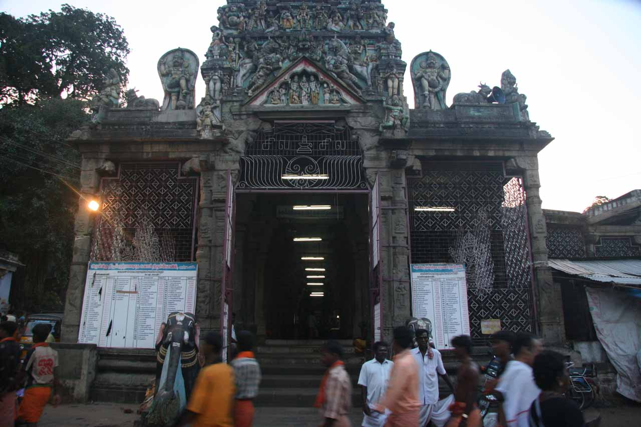 Another look at the entrance to the temple