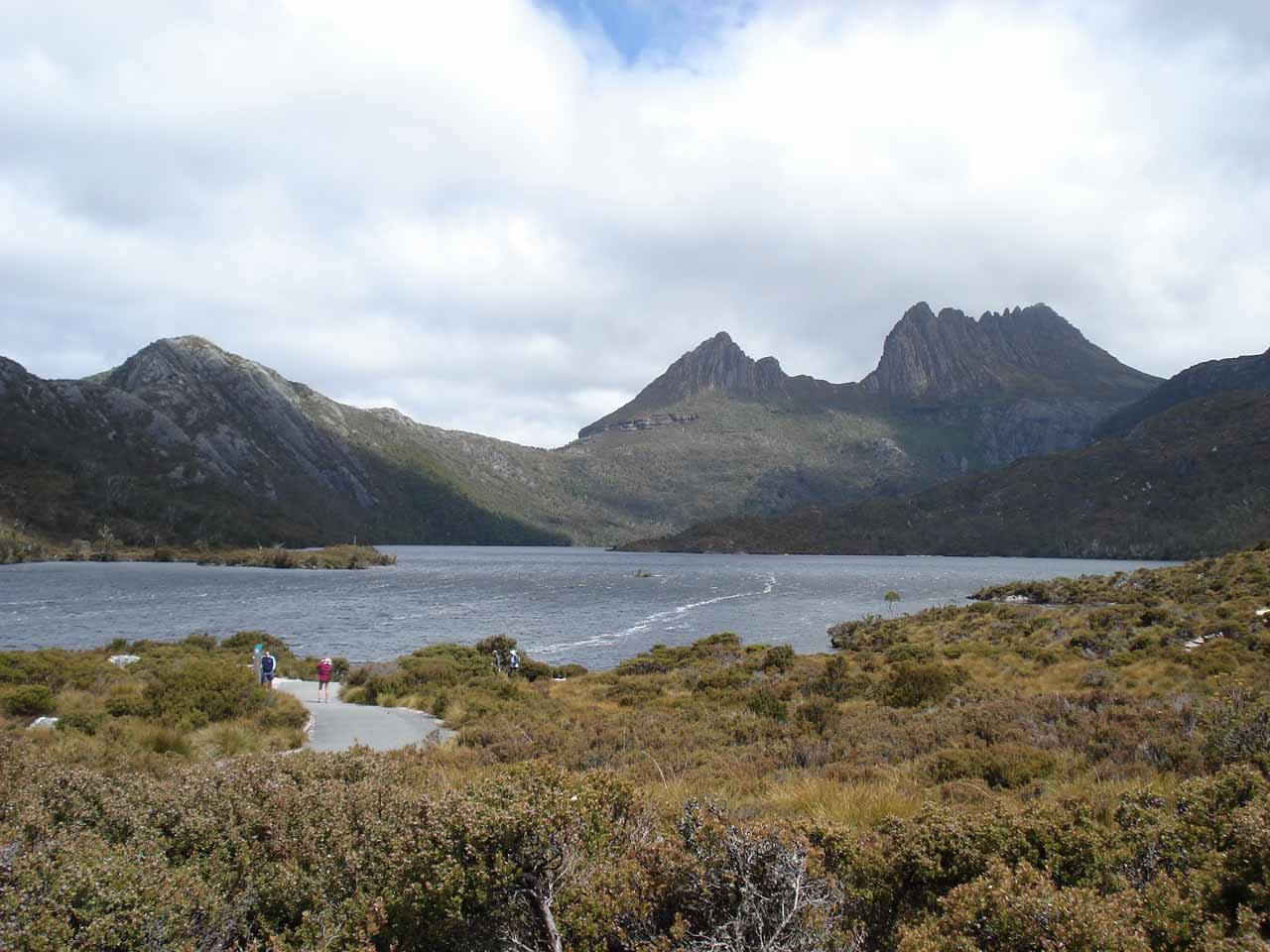 This was Cradle Mountain and Dove Lake in Cradle valley, which were not far from the Lemonthyme Lodge Wilderness Retreat