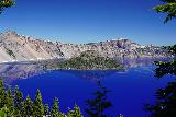 Crater_Lake_042_06282021 - Another look towards Wizard Island surrounded by the sapphire blue Crater Lake
